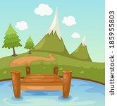 illustration of beautiful... | Shutterstock .eps vector #185955803