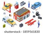 car service isometric concept.... | Shutterstock . vector #1859561830
