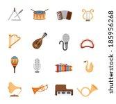 music icons | Shutterstock .eps vector #185956268