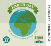 earth day holiday poster in... | Shutterstock .eps vector #185956418