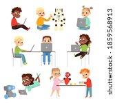 kids programmer characters set  ...   Shutterstock .eps vector #1859568913