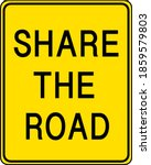 share the road yellow sign on... | Shutterstock .eps vector #1859579803