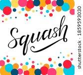 squash sport black lettering... | Shutterstock .eps vector #1859593030