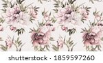 seamless floral pattern with... | Shutterstock . vector #1859597260