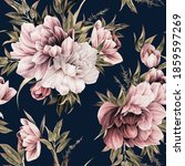 seamless floral pattern with... | Shutterstock . vector #1859597269