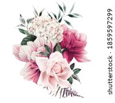 bouquet of flowers  can be used ... | Shutterstock . vector #1859597299