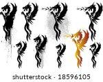 dragon flames | Shutterstock .eps vector #18596105