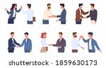 handshaking people. greeting... | Shutterstock .eps vector #1859630173