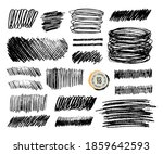 grunge pencil sketches set.... | Shutterstock .eps vector #1859642593