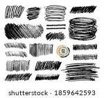 grunge pencil sketches set.... | Shutterstock .eps vector #1859642593