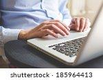 close up hands multitasking man ...   Shutterstock . vector #185964413