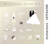 wedding planner icons and... | Shutterstock .eps vector #185966588