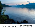 Loch Ness Lake In Scotland  At...