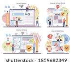 content marketing online... | Shutterstock .eps vector #1859682349