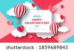 air balloon and paper cut... | Shutterstock .eps vector #1859689843