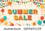 summer sale greeting card with... | Shutterstock .eps vector #1859691139