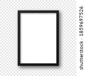 black blank poster frame with... | Shutterstock .eps vector #1859697526