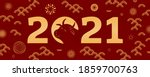 2021 chinese new year cute ox... | Shutterstock .eps vector #1859700763