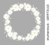 invitation card with daisies on ... | Shutterstock .eps vector #185973110