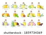 set of essential oils in glass...   Shutterstock .eps vector #1859734369