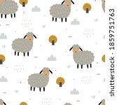 Seamless Pattern Cartoon Animal ...