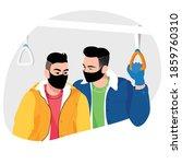 a couple of men wearing masks...   Shutterstock .eps vector #1859760310