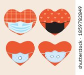 heart  facial mask isolated.... | Shutterstock .eps vector #1859782849