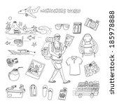 backpackers world. travel.... | Shutterstock .eps vector #185978888