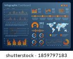 infographic dashboard interface....