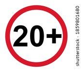 20 restriction flat sign...