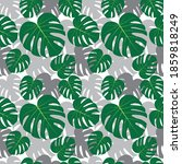 vector tropical palm leaves.... | Shutterstock .eps vector #1859818249