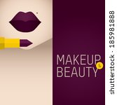 makeup and beauty | Shutterstock .eps vector #185981888