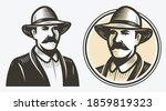 farmer portrait sketch.... | Shutterstock .eps vector #1859819323