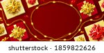 red background for christmas... | Shutterstock .eps vector #1859822626