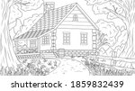 vector illustration  house in... | Shutterstock .eps vector #1859832439