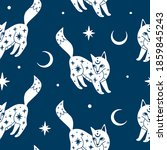 seamless pattern with mystic... | Shutterstock .eps vector #1859845243
