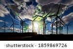 Green Energy Concept. Wind...