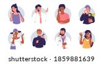 people talking on a cell phone. ... | Shutterstock .eps vector #1859881639
