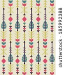 ethnic arrows pattern design....   Shutterstock .eps vector #185992388