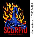 scorpion illustration  with...   Shutterstock .eps vector #1859926489