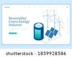 renewable green energy industry ...   Shutterstock .eps vector #1859928586