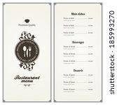 restaurant menu design | Shutterstock .eps vector #185993270