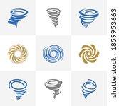 set of tornado logo vector...   Shutterstock .eps vector #1859953663