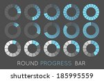 loading status icons  round... | Shutterstock . vector #185995559
