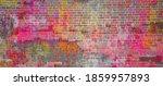 Banner Multicolored Brick Wall. ...