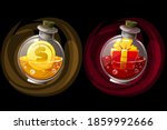 set of isolated elixir bottles... | Shutterstock .eps vector #1859992666