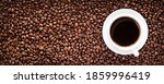 Roasted Coffee Bean Background...