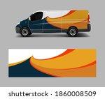 van decal wrap design vector... | Shutterstock .eps vector #1860008509