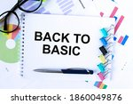 a notepad with text back to... | Shutterstock . vector #1860049876