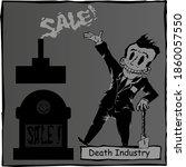 black humor. caricature ... | Shutterstock .eps vector #1860057550